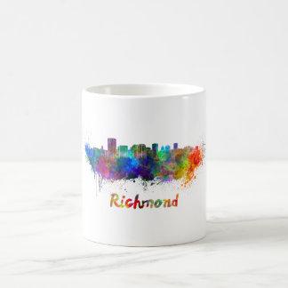 Richmond skyline in watercolor coffee mug