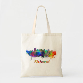 Richmond skyline in watercolor tote bag