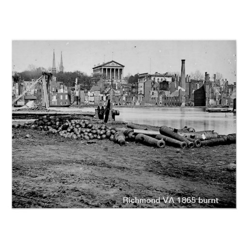 Richmond VA 1865 Print