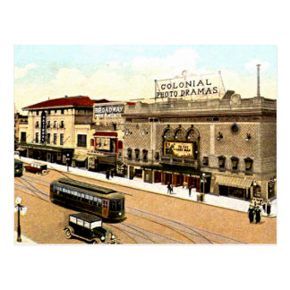 Richmond, Virginia - 1923, Theatrical District Postcard