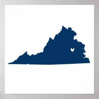 Richmond, Virginia Love Poster