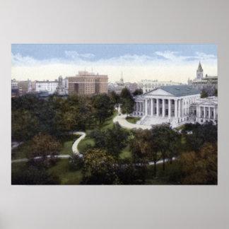 Richmond Virginia State Capitol Birdseye Poster