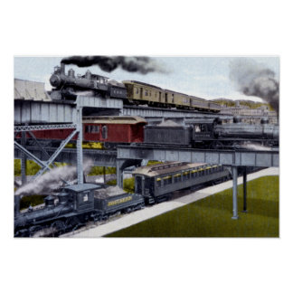 Richmond Virginia Tracks over Tracks Poster