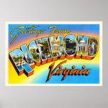 Richmond Virginia VA Old Vintage Travel Postcard- Poster