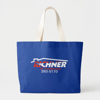 Richner Air Large Tote Blue Jumbo Tote Bag