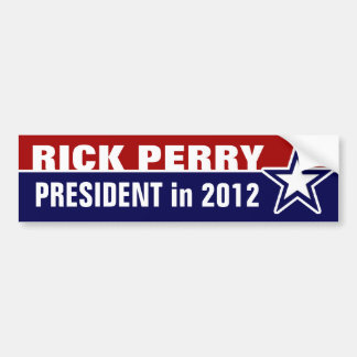 Rick Perry in 2012 Bumper Sticker