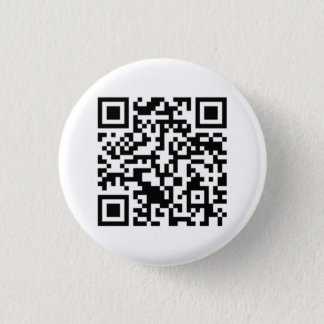 Rick Roll QR Code Rickrolled 3 Cm Round Badge