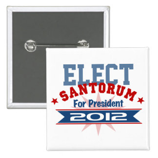 Rick Santorum 2012 15 Cm Square Badge
