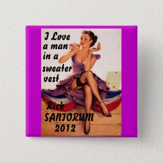 Rick Santorum 2012 15 Cm Square Badge