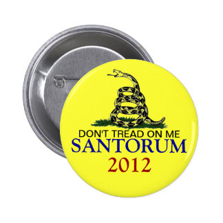 RICK SANTORUM 2012 6 CM ROUND BADGE