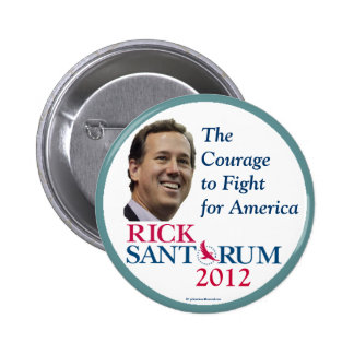 Rick Santorum 2012 Republican political pinback bu 6 Cm Round Badge
