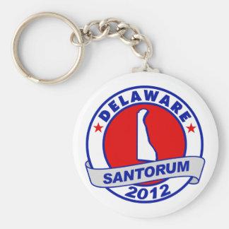 Rick Santorum Delaware Basic Round Button Key Ring