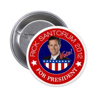 Rick Santorum for President 2012 Buttons