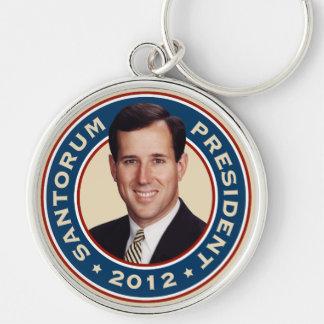 Rick Santorum for President 2012 Silver-Colored Round Key Ring