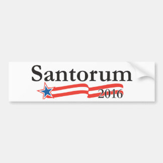 Rick Santorum for President 2016 Bumper Sticker