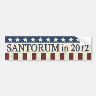 Rick Santorum in 2012 Car Bumper Sticker