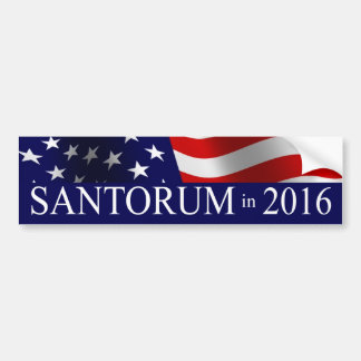 Rick Santorum in 2016 Bumper Sticker