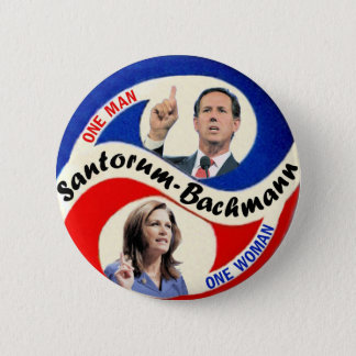 Rick Santorum / Michele Bachmann 6 Cm Round Badge
