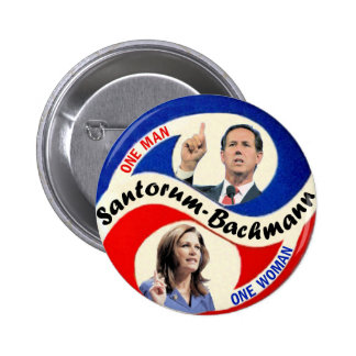 Rick Santorum / Michele Bachmann 6 Cm Round Badge