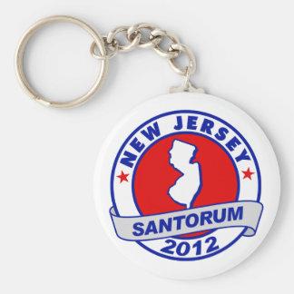 Rick Santorum New Jersey Basic Round Button Key Ring