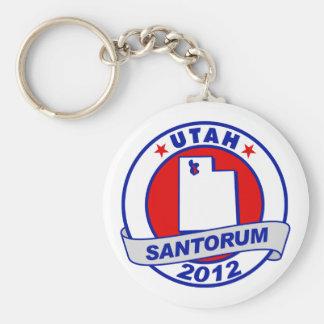 Rick Santorum Utah Basic Round Button Key Ring