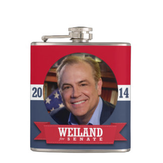RICK WEILAND CAMPAIGN HIP FLASK