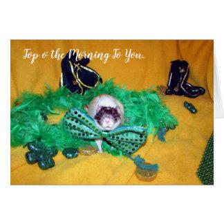 Rickman (Pet Rat) St. Patrick's Day Card