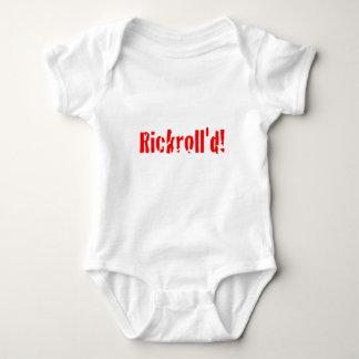 rickrolled baby bodysuit