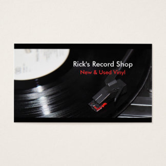 Rick's Record Shop Business Card