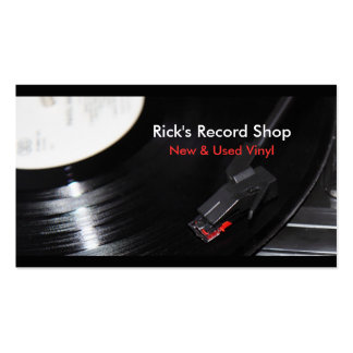 Rick's Record Shop Pack Of Standard Business Cards
