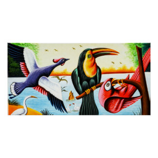 Rickshaw Art Birds Poster