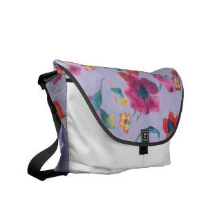 Rickshaw Floral Bag by vivsart Commuter Bag