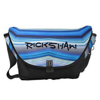 Rickshaw Kaleidiscope Blues Courier Bag