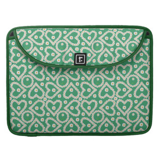Rickshaw MacBook Pro Sleeve: Daisy Chains on Green Sleeve For MacBook Pro