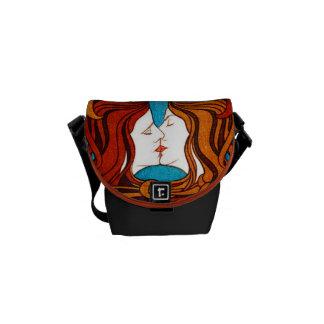 Rickshaw Messenger Bag Art Nouvea pattern