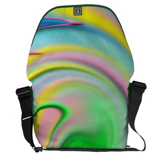 Rickshaw Messenger Bag-Colorful rainbow abstract