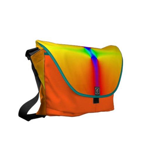 Rickshaw Messenger Bag: Fluorescent rainbow colors