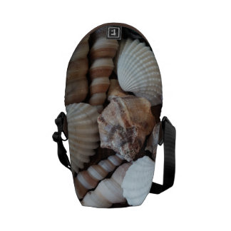 Rickshaw Messenger Bag, Sunny Summer Seashells Commuter Bags