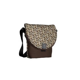 Rickshaw Messenger Bag, Sunny Summer Seashells Courier Bag