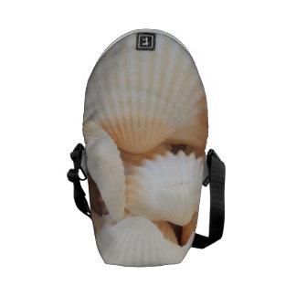 Rickshaw Messenger Bag, Sunny Summer Seashells Messenger Bags