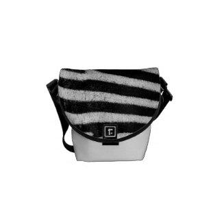 Rickshaw Messenger Bag - Zebra stripes pattern