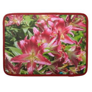 Rickshaw Sleeve Bright Pink Flowers Sleeve For MacBook Pro