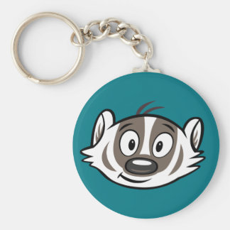 Ricky Raccoon | Boomer Badger Face Key Ring