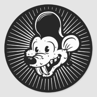 Ricky Rodent Classic Round Sticker