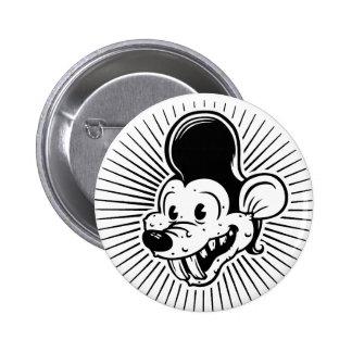 Ricky Rodent Pinback Button