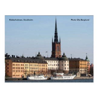 Riddarholmen, Stockholm, Photo ... Postcard