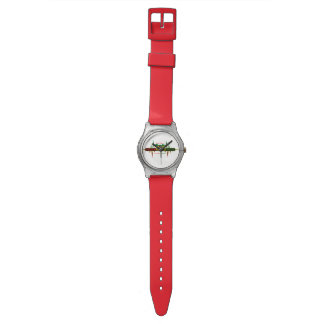 Riddim Roots Radio Custom Unisex Red Watch