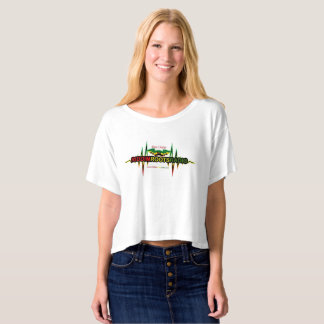 Riddim Roots Radio Women's Boxy Crop Top T-Shirt
