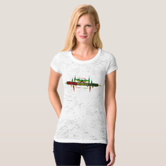 Riddim Roots Radio Women's Fitted Burnout T-Shirt