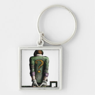 Riddler 2 Silver-Colored square key ring